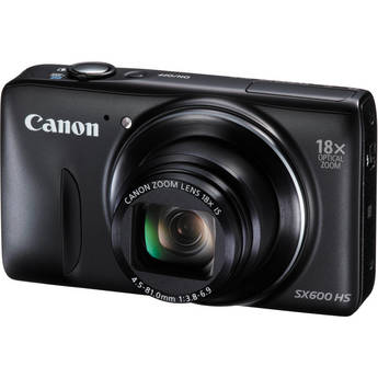 Canon PowerShot SX600 HS Digital Camera (Black)